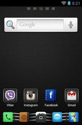 Matte Finish android theme home screen