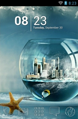 android theme 'Fish Bowl City'