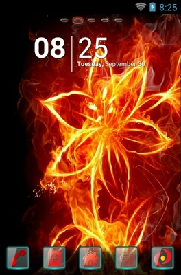 android theme 'Fiery Flower'