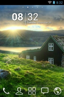 android theme 'Sunset Home'