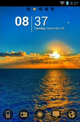 android theme 'Ocean Sunset'