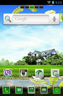 Heaven android theme home screen