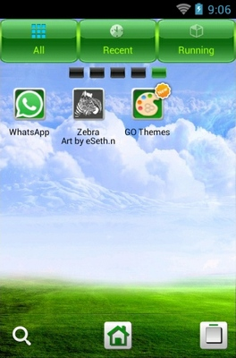 Heaven android theme application menu