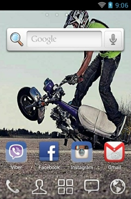 Bike Stunt android theme home screen