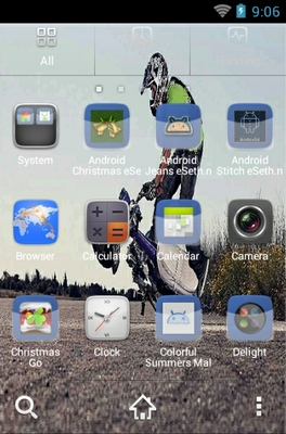 Bike Stunt android theme application menu