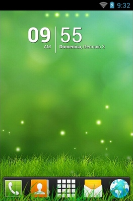 android theme 'Abstract Grass'