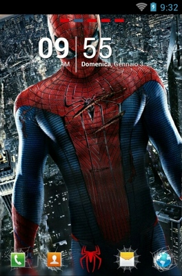 android theme 'Amazing Spiderman'