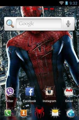 Amazing Spiderman android theme home screen