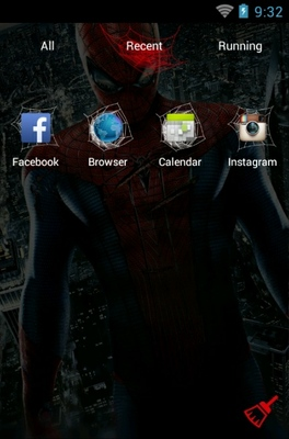 Amazing Spiderman android theme application menu