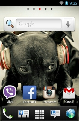 Puppy android theme home screen