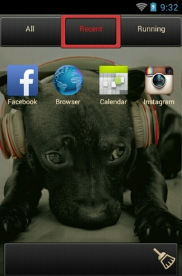 Puppy android theme application menu