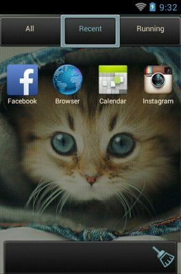Kitten android theme application menu