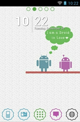 android theme 'Android Falls In Love Light'