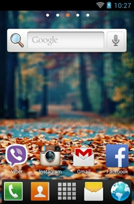 Fallen Leaves android theme home screen
