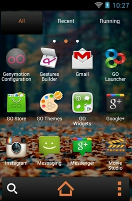 Fallen Leaves android theme application menu