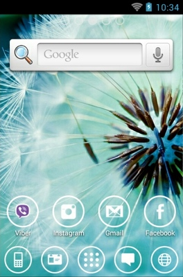 Dandelion android theme home screen