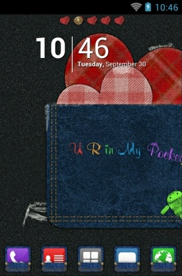 android theme 'Pocket Love'