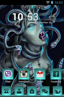 Medusa android theme home screen