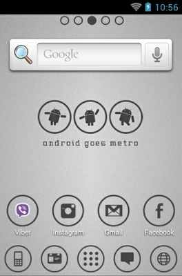 Android Metro White android theme home screen