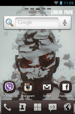 Living Things Linkin Park android theme home screen