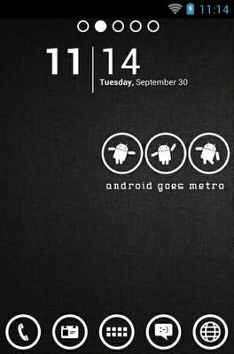 android theme 'Android Metro Black'