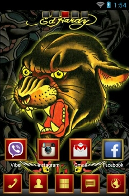 android theme 'Ed Hardy'