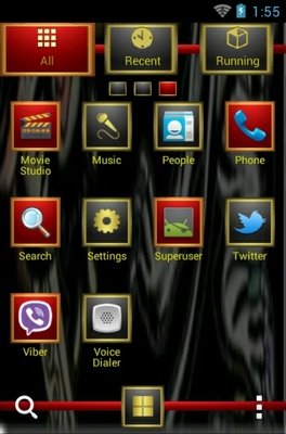 Ed Hardy android theme application menu