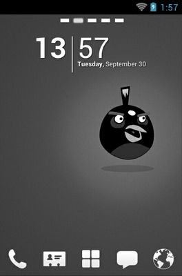 android theme 'Angry Birds Black'