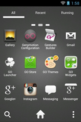 Angry Birds Black android theme application menu