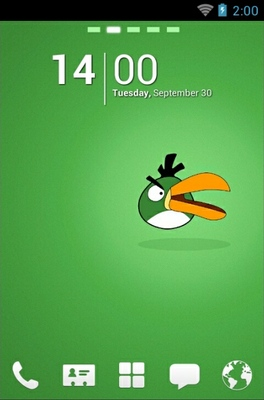 android theme 'Angry Birds Green'