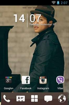 Bruno Mars android theme home screen