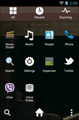 Bruno Mars android theme application menu