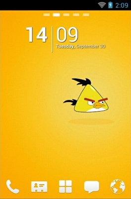 Angry Birds Yellow android theme