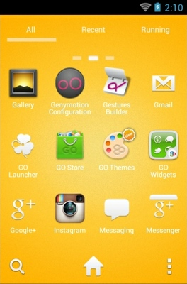 Angry Birds Yellow android theme application menu