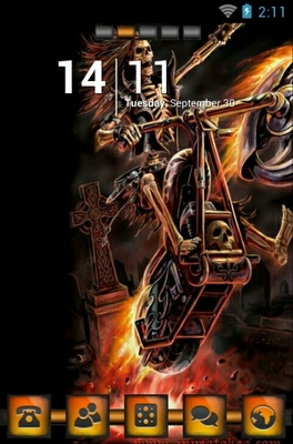 android theme 'Hell Raider'