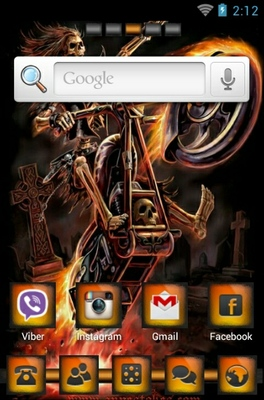 Hell Raider android theme home screen