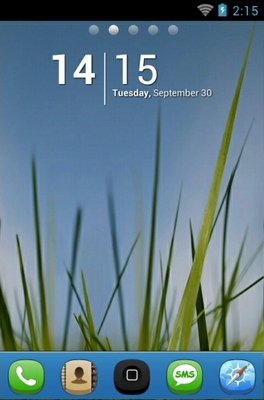 android theme 'Grass N Sky'