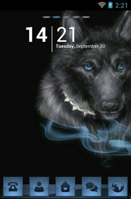 android theme 'Black Wolf'