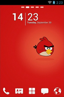 android theme 'Angry Birds Red'