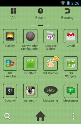 Retro Android android theme application menu