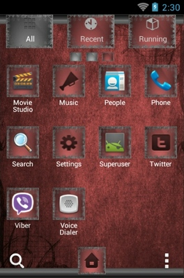 Bat Romance android theme application menu