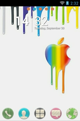 Melting Apple android theme