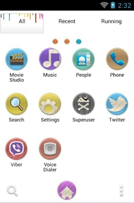 Melting Apple android theme application menu