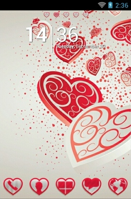 Falling Hearts android theme