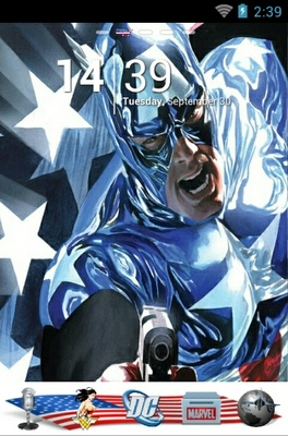 android theme 'Captain America'