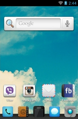 Vintage Sky android theme home screen