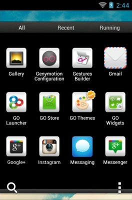 Vintage Sky android theme application menu