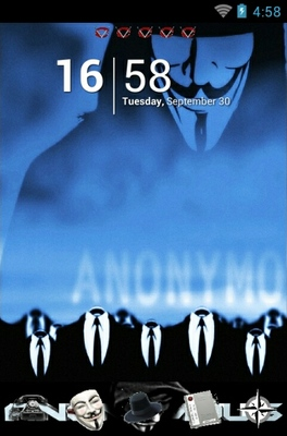 android theme 'Anonymous'
