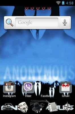 Anonymous android theme home screen