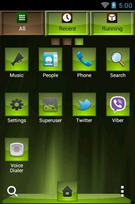 Loving android theme application menu